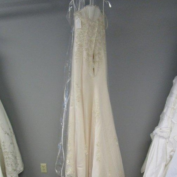 Ashley Jordan Dresses Cream Gold Wedding Dress Poshmark